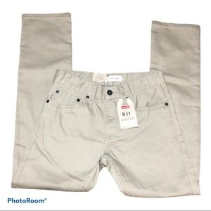 LEVI 511 Slim Size 12 Back to School Khaki Jeans